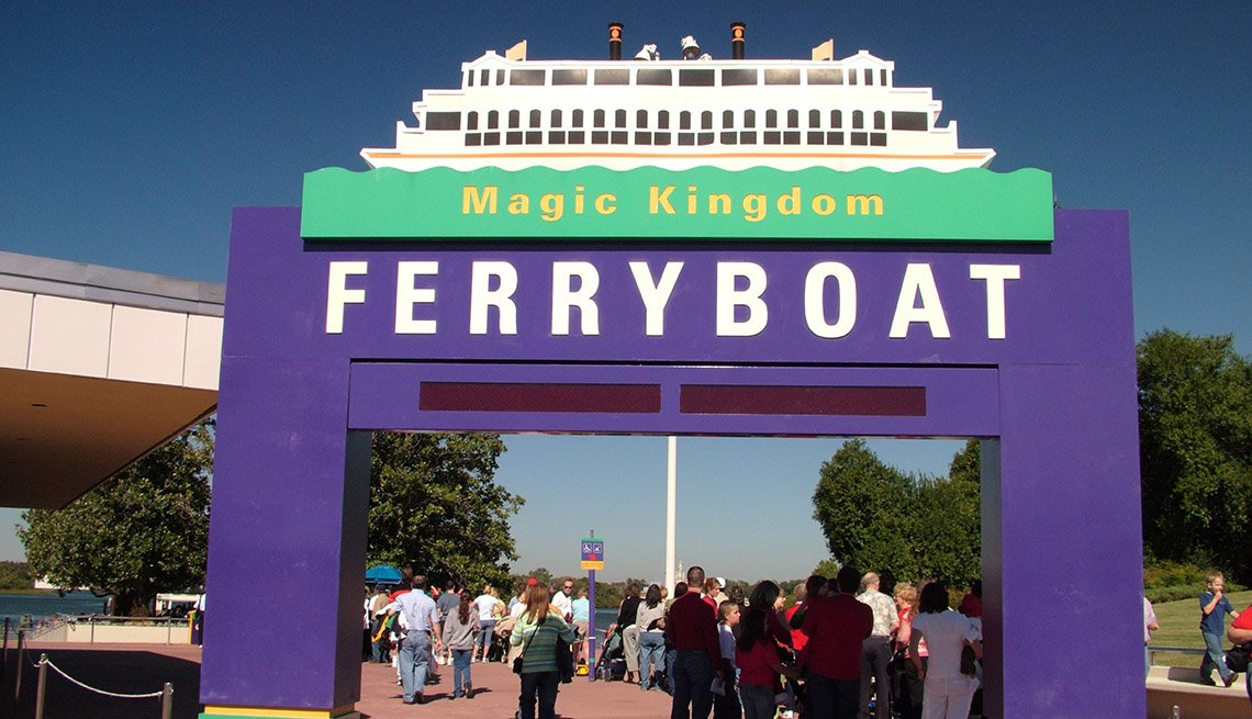 The Entrance To The Magic Kingdom Ferry In Disney Park Florida, Fun Ferry Rides