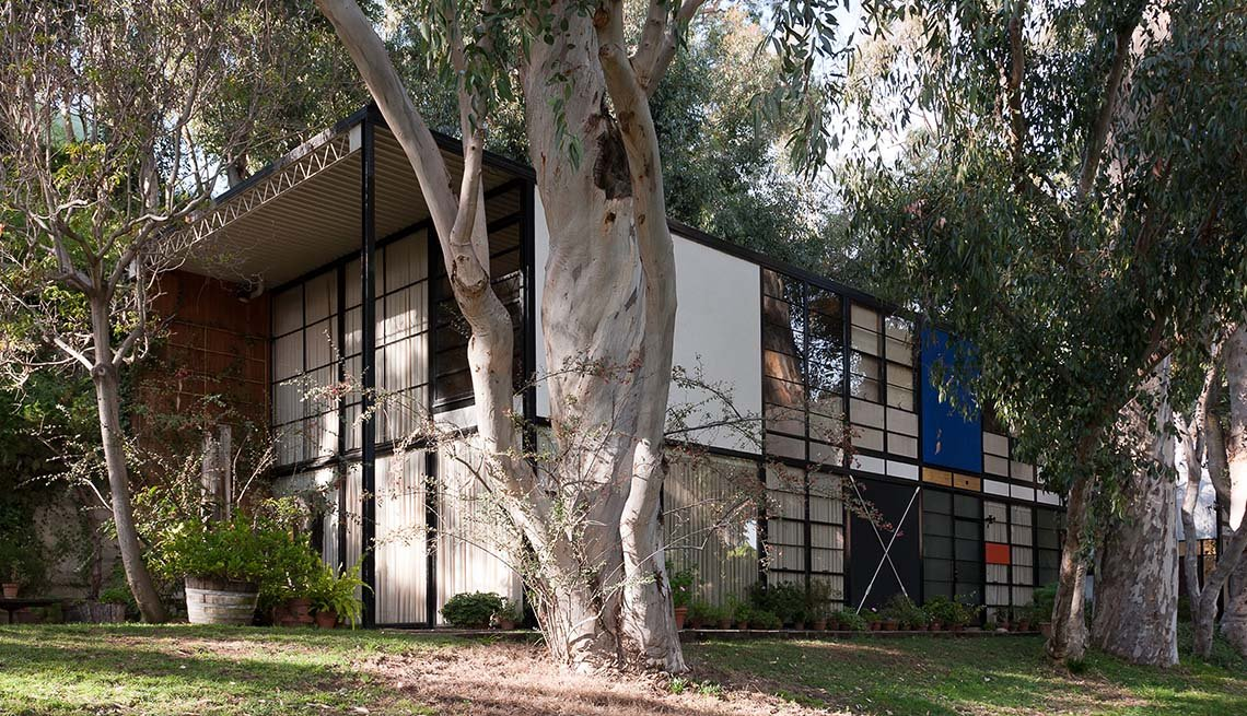 The Eames House By Charles And Ray Eames In Los Angeles California, Iconic Private Homes