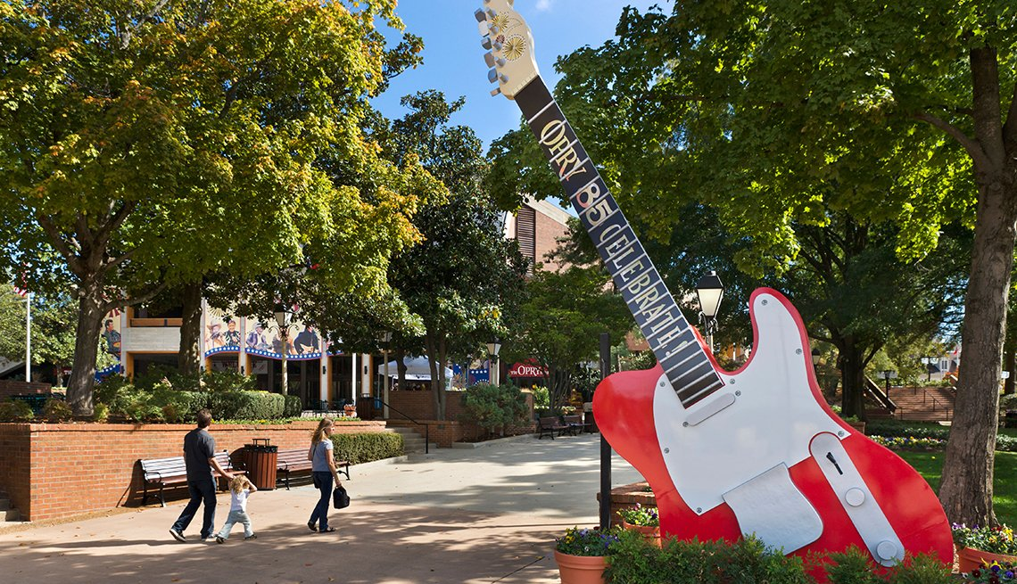 Guitar Sculpture, Grand Old Opry, Nashville, Top U.S. Vacation Destinations