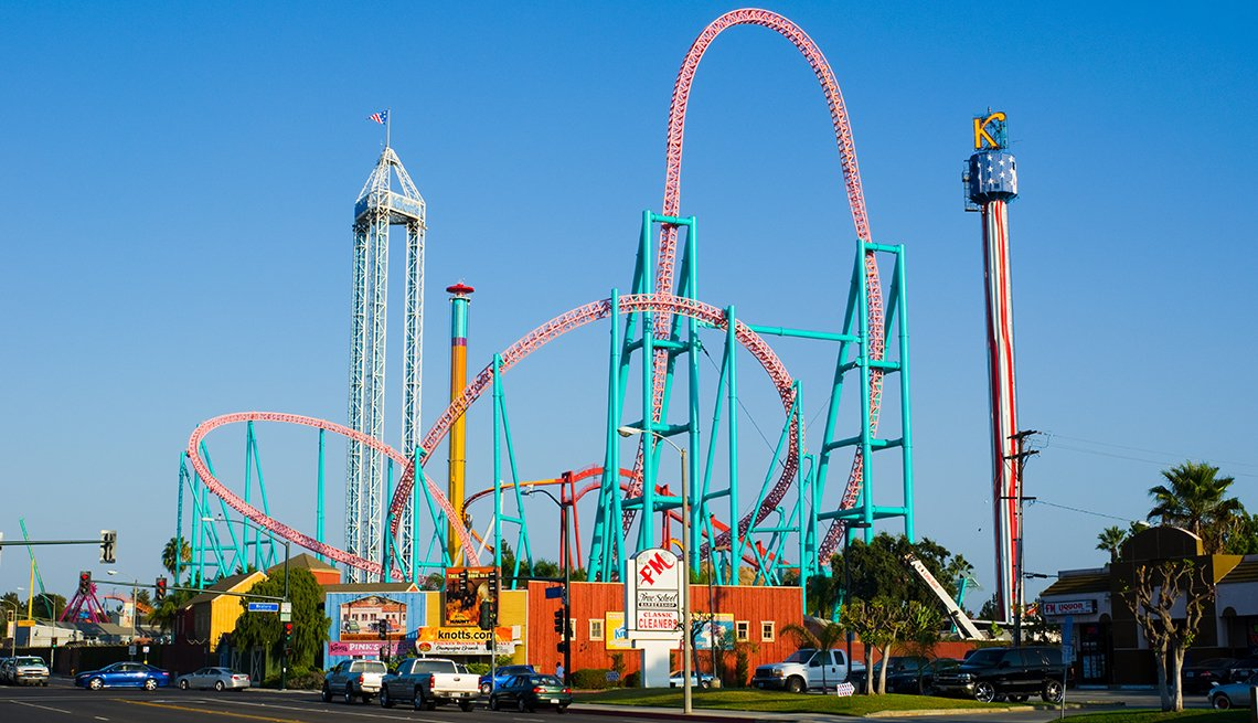 Roller Coasters, Knotts Berry Farm, California, Fantastic Amusement Parks