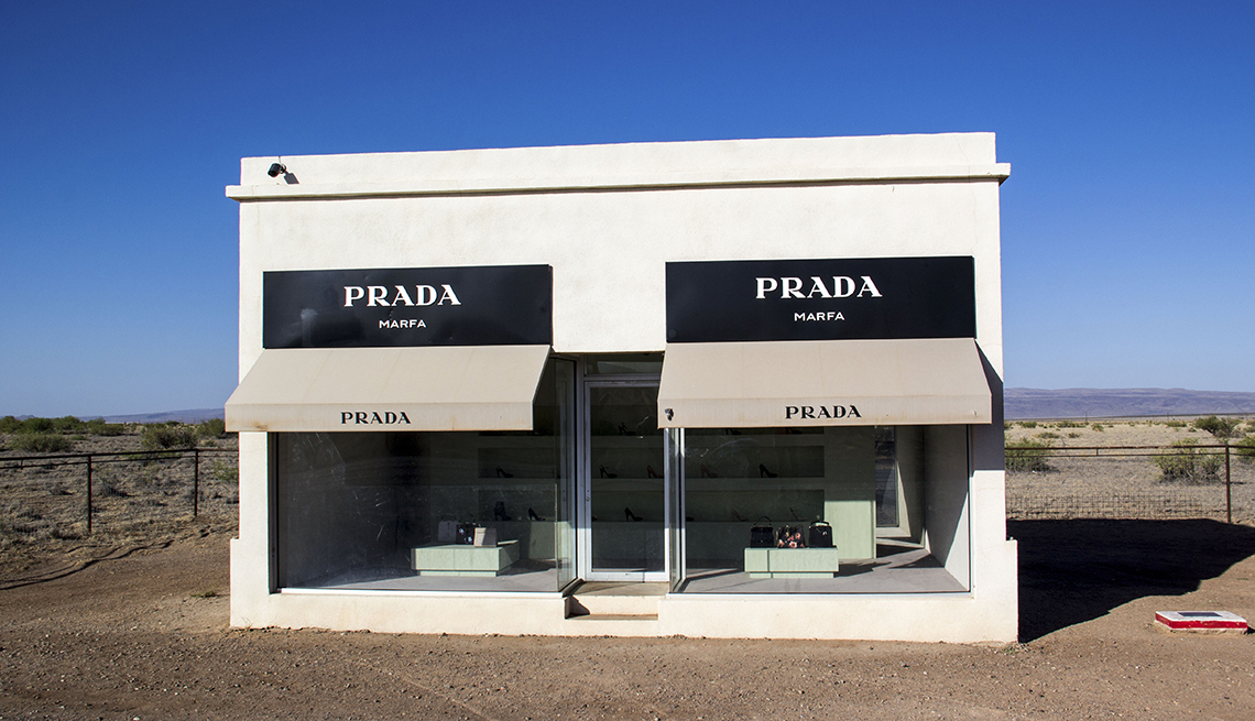 The Prada Sculpture In Marfa Texas, Best Small Towns In America
