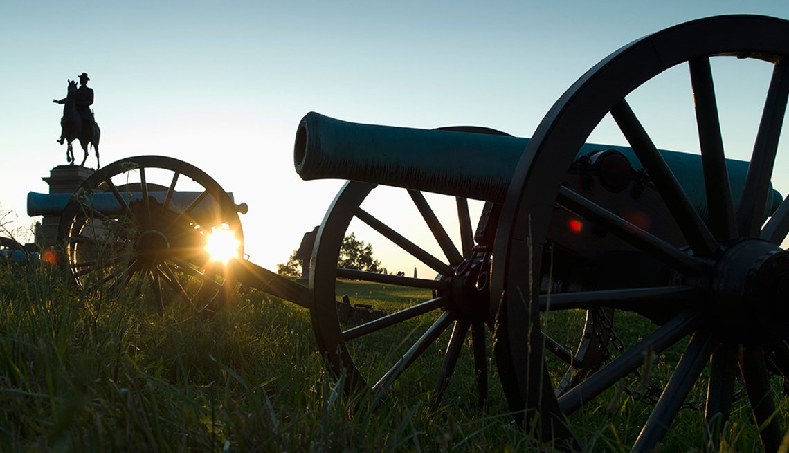 Sunset at Gettysburg National Military Park in Gettysburg, Pennsylvania, Memorial Day Historic Sites