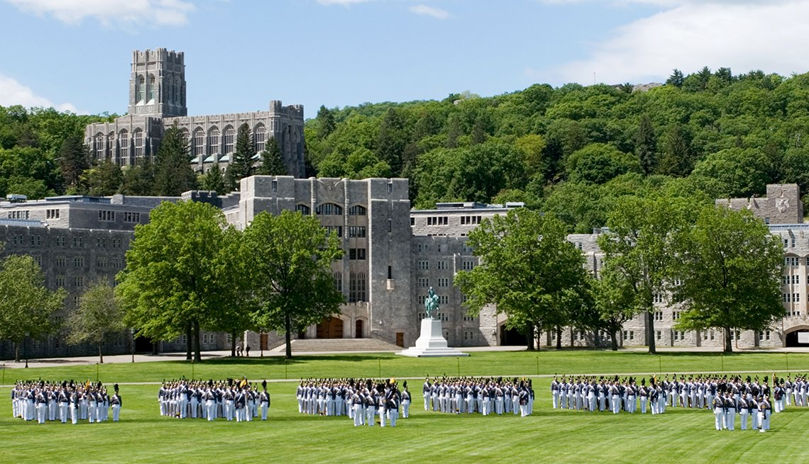 Cadets March on The Plain at the United States Military Academy at West Point, New York, Memorial Day Historic Sites