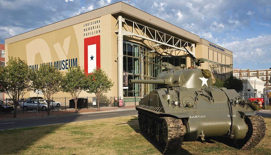 Tank Outside National World War II Museum in New Orleans, Memorial Day Historic Sites