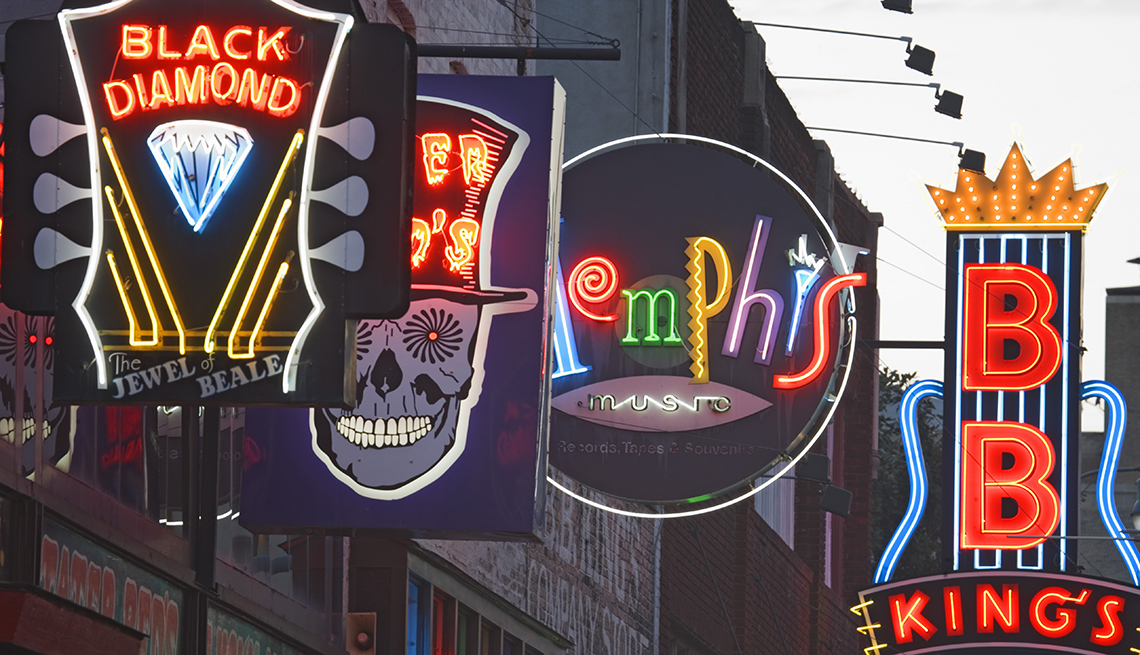item 6 of Gallery image - Neon Signs, Beale Street, Memphis, Budget U.S. Trips