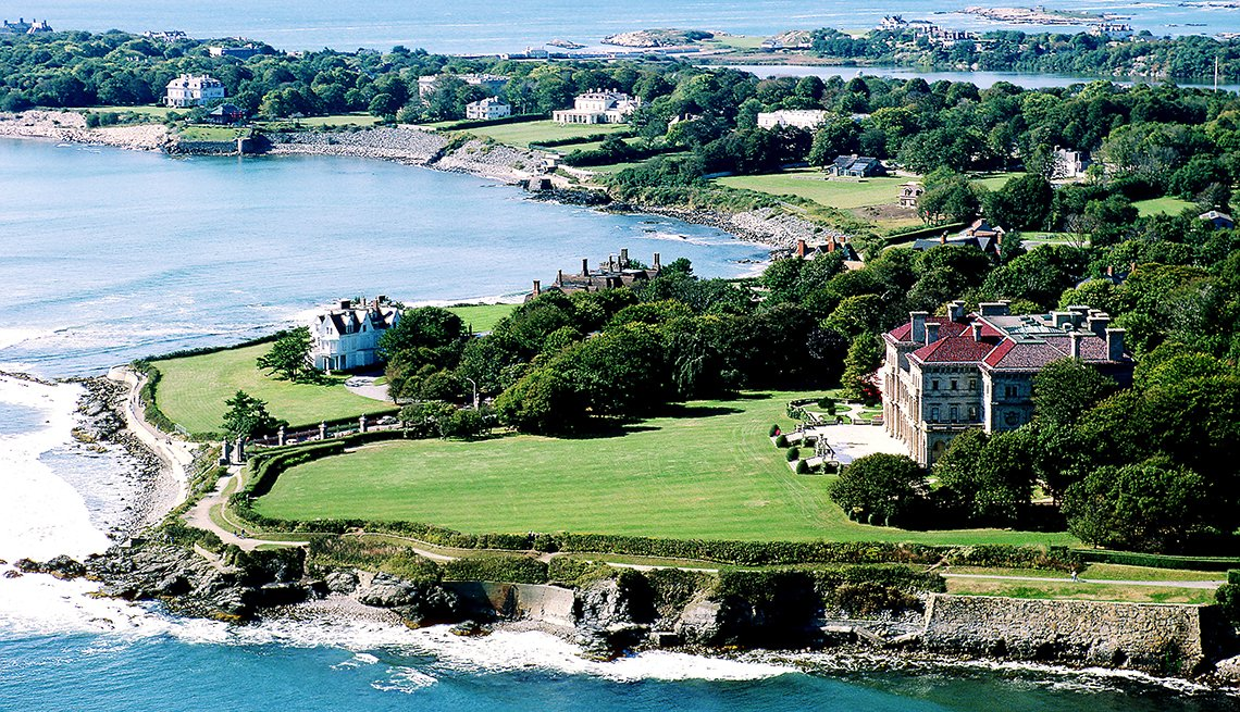 Newport, Rhode Island, Aerial View,  U.S. Cities for History Buffs