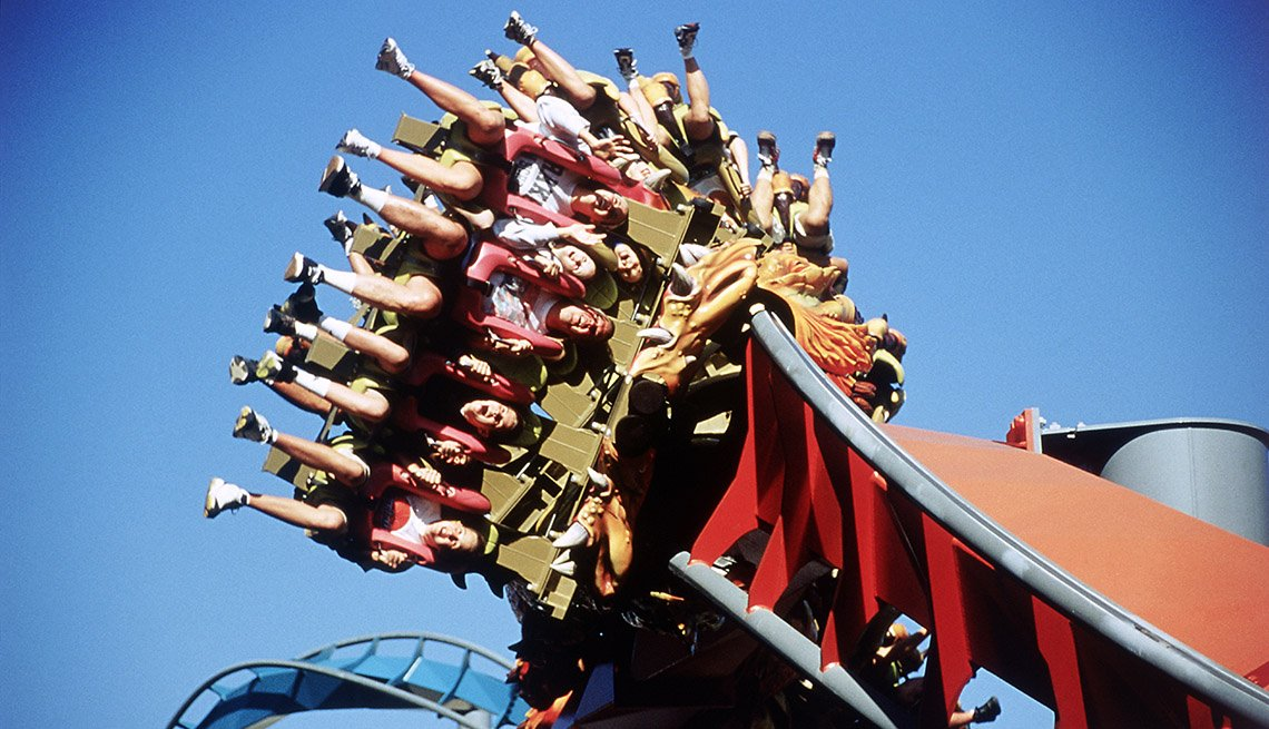 Riders On A Roller Coaster In Orlando Florida, America's Best Low-Cost Cities