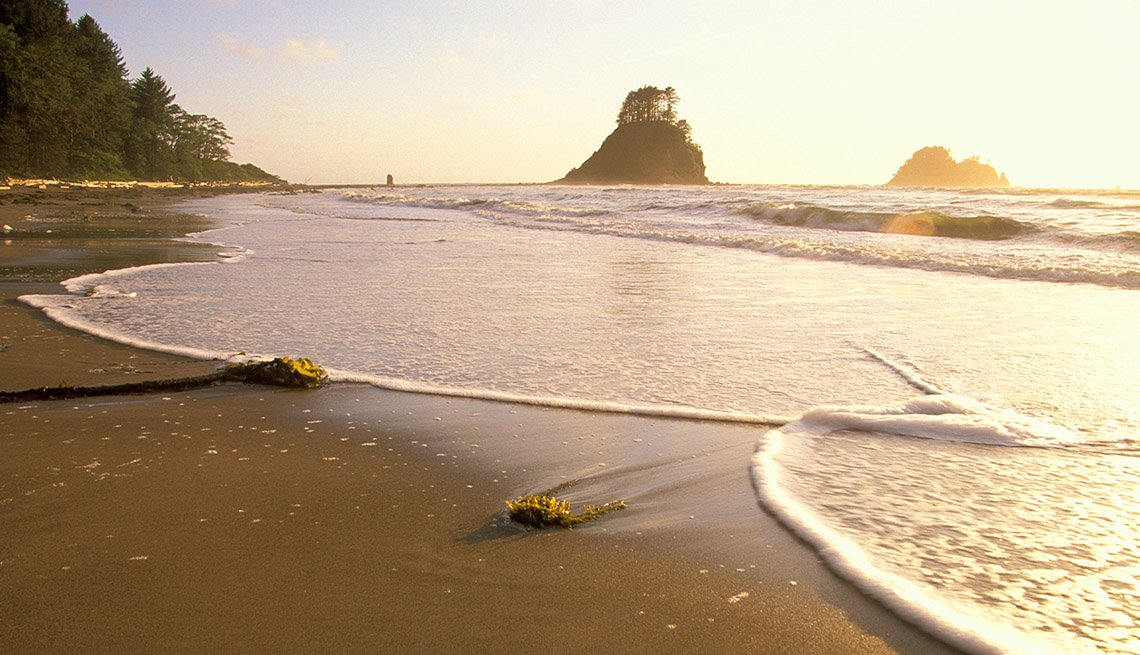 Sunrise At Ozette Beach In Washington, Secluded Beaches