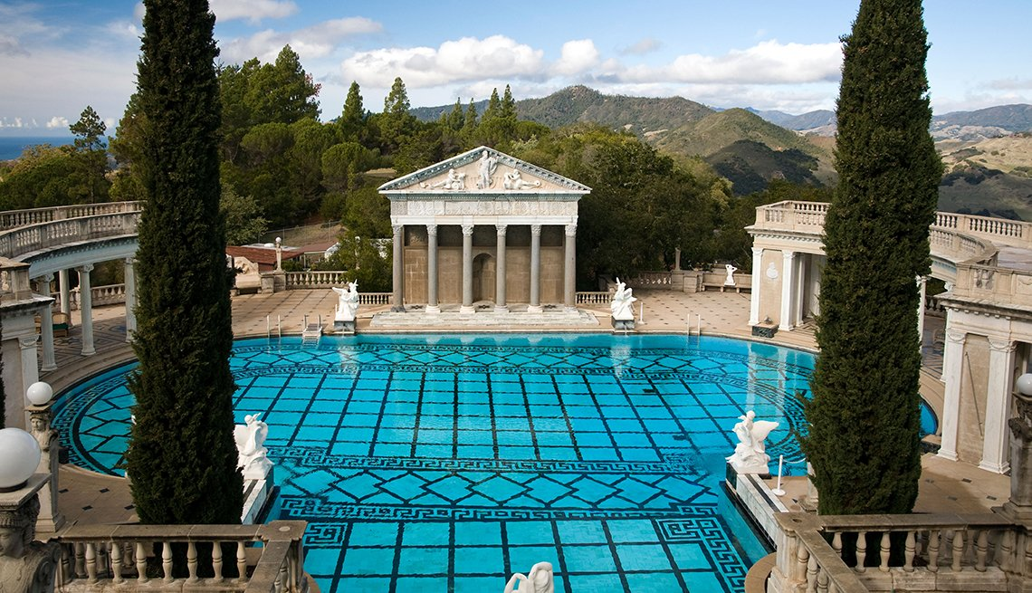 item 4 of Gallery image - Neptune Pool, Hearst Castle, Villa, California, Budget U.S. Trips