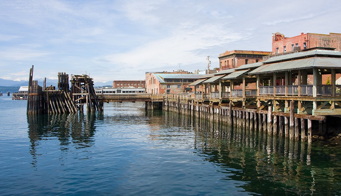 The Water And Boardwalk In Port Townsend Washington, Best Small Towns In America