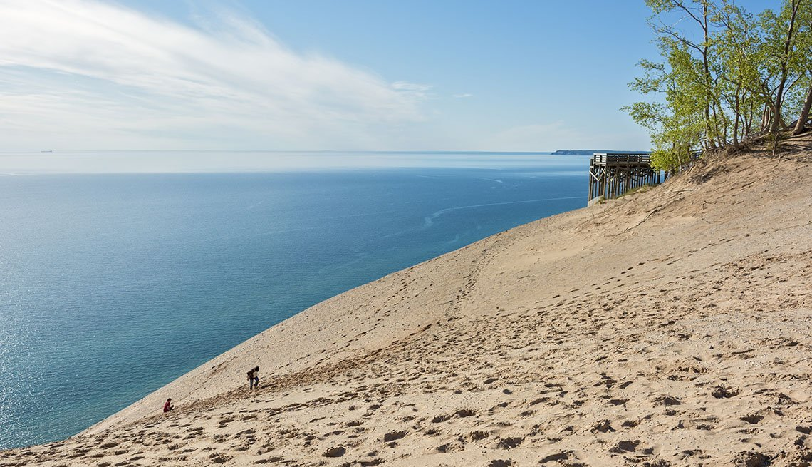 Sleeping Bear Dunes National Lakeshore In Michigan, Secluded Beaches