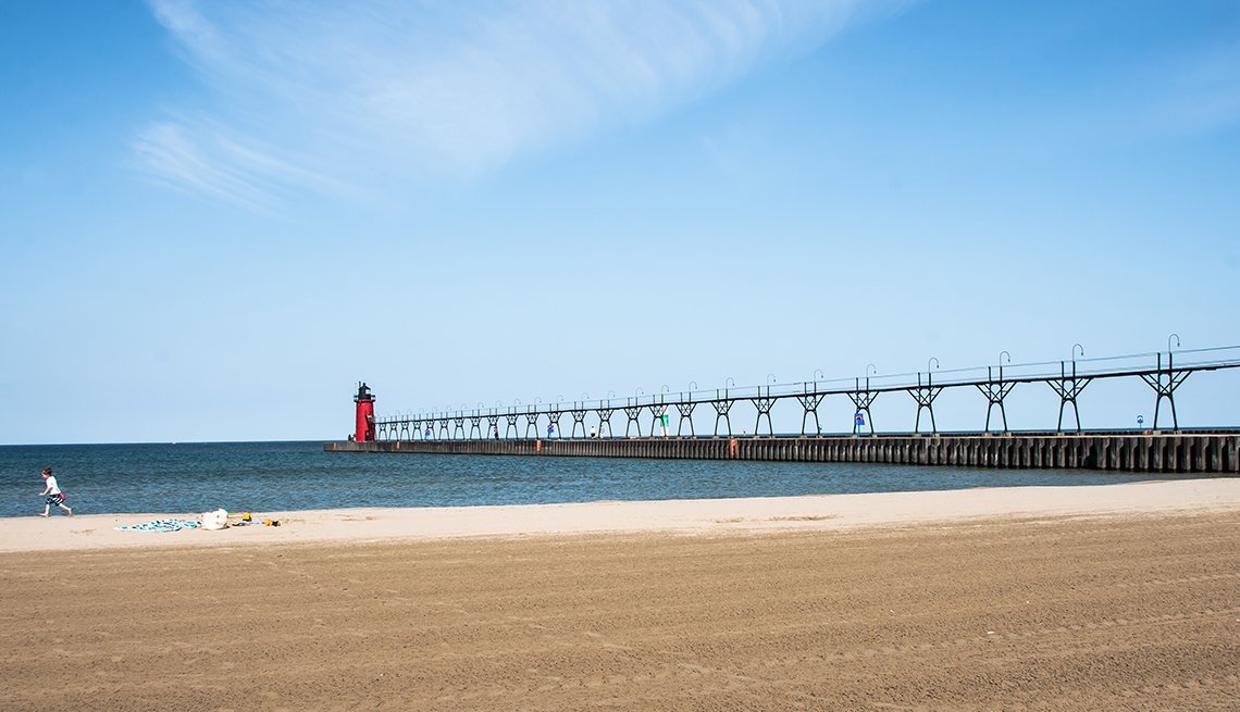 Lighthouse Beach, South Haven, Lake Michigan, Annual Summer Fun on the Coast of Lake Michigan