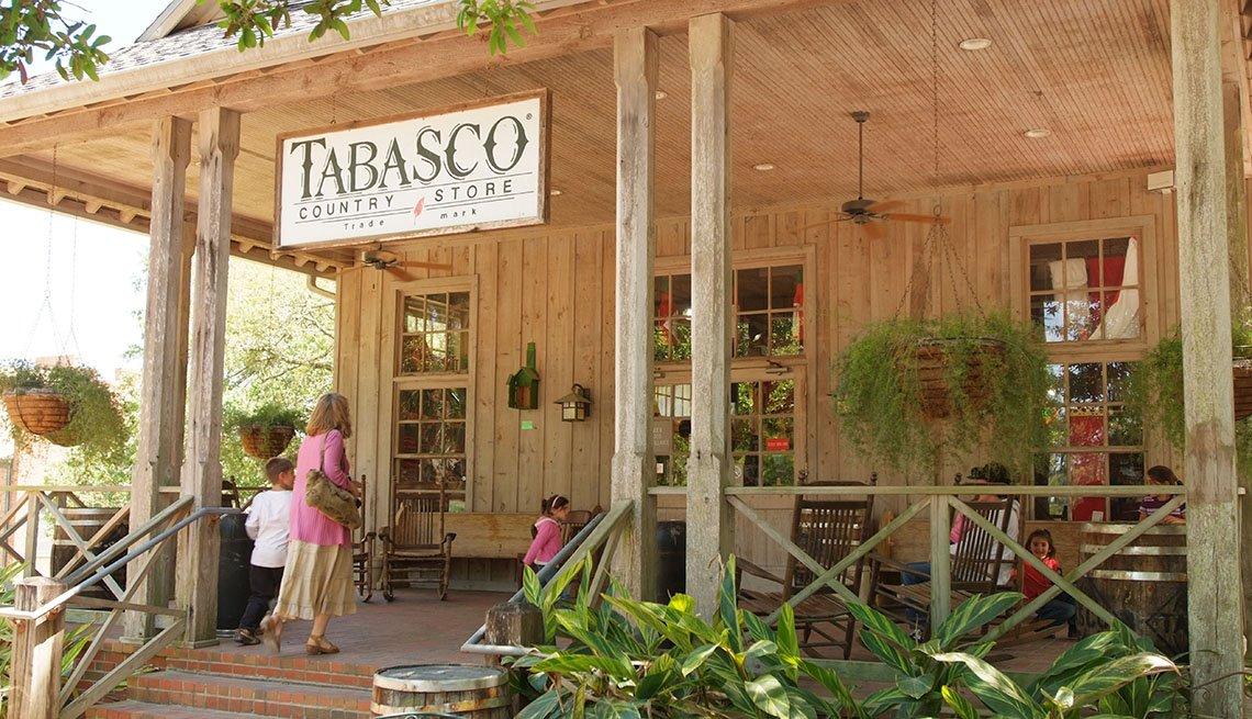 Tourists And Visitors Enter The Tabasco Country Store At The Tabasco Factory, Great Factory Tours