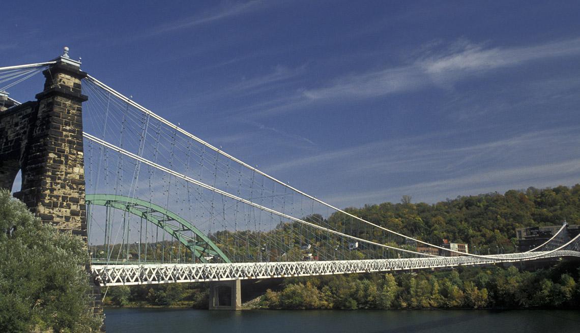 The Wheeling Suspension Bridge In Wheeling West Virginia, Must See Bridges