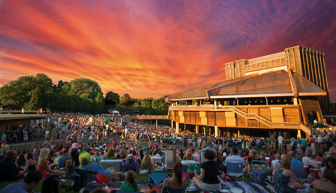 People Gather For A Performance At Wolf Trap In Virginia, Outdoor Music Venues