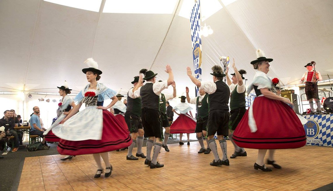 Dancers In Traditional German Clothes, Oktoberfest Destinations USA