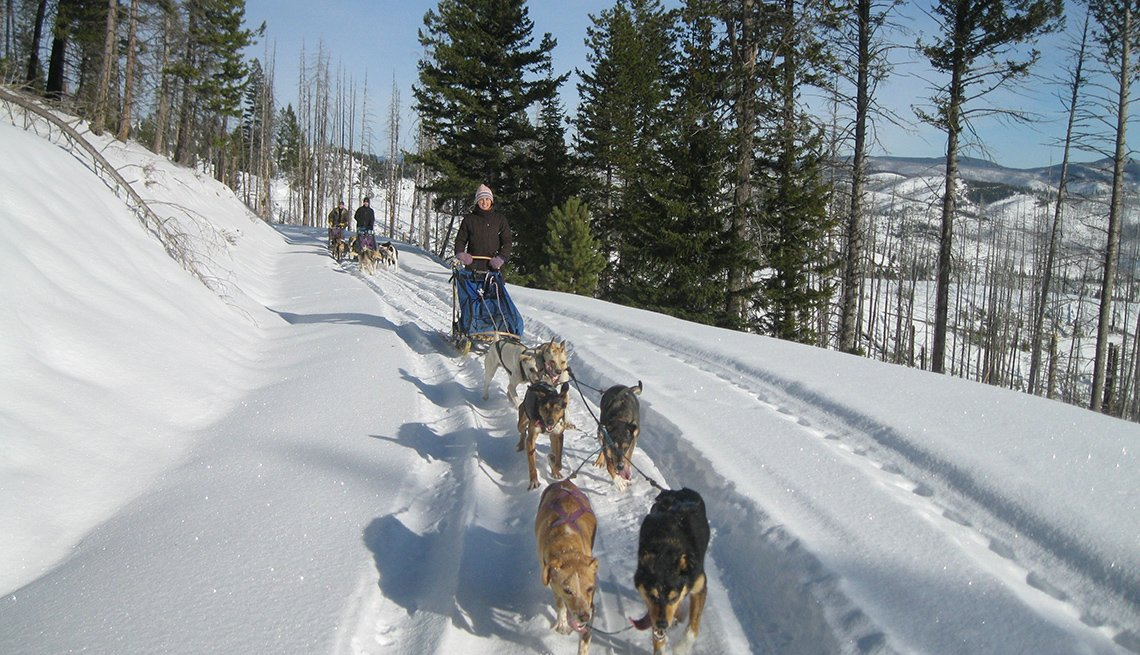 Dogsled Runs Through The Mountainside And Snow, Dude Ranch Vacations
