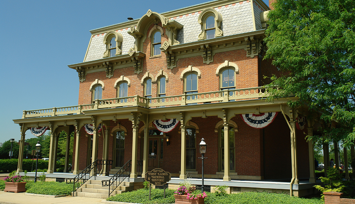 Exterior Front Of The First Ladies National Historic Site In Canton Ohio, Presidential Libraries
