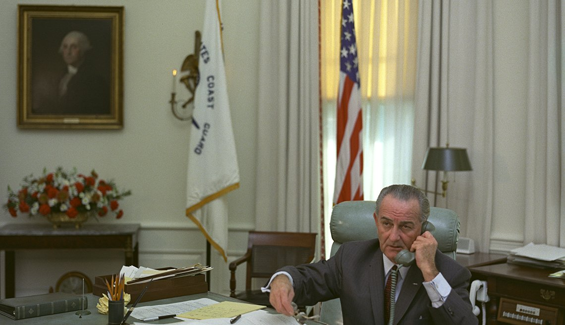 President Lyndon B. Johnson At The Oval Office During His Presidency, Presidential Libraries