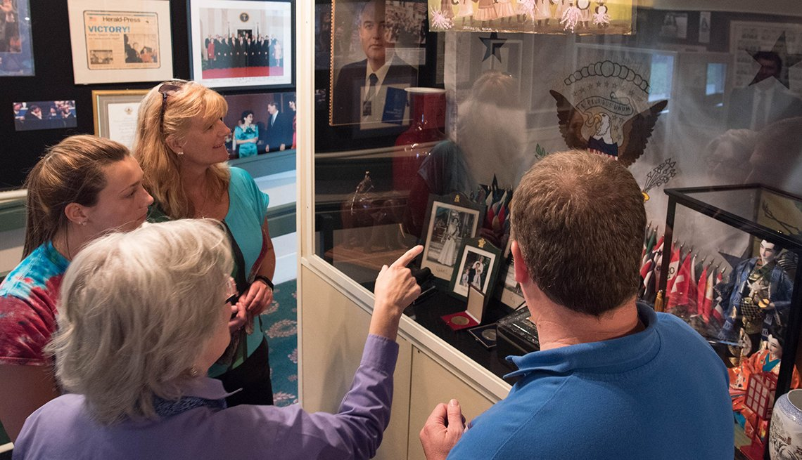 Visitors Look At An Exhibit At The Quayle Vice President Learning Center, Presidential Libraries