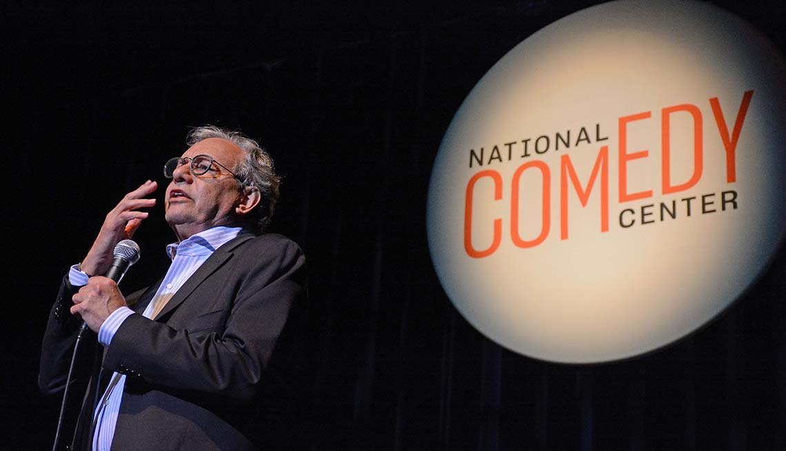 Comedian Lewis Black speaking at the National Comedy Center