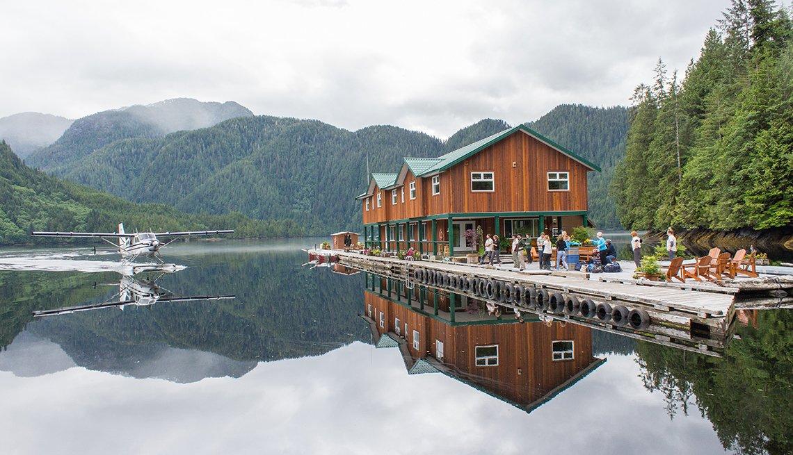 Foto panorámica del Great Bear Lodge.