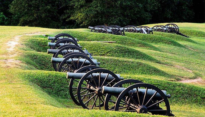 canons at Vicksburg National Military Park