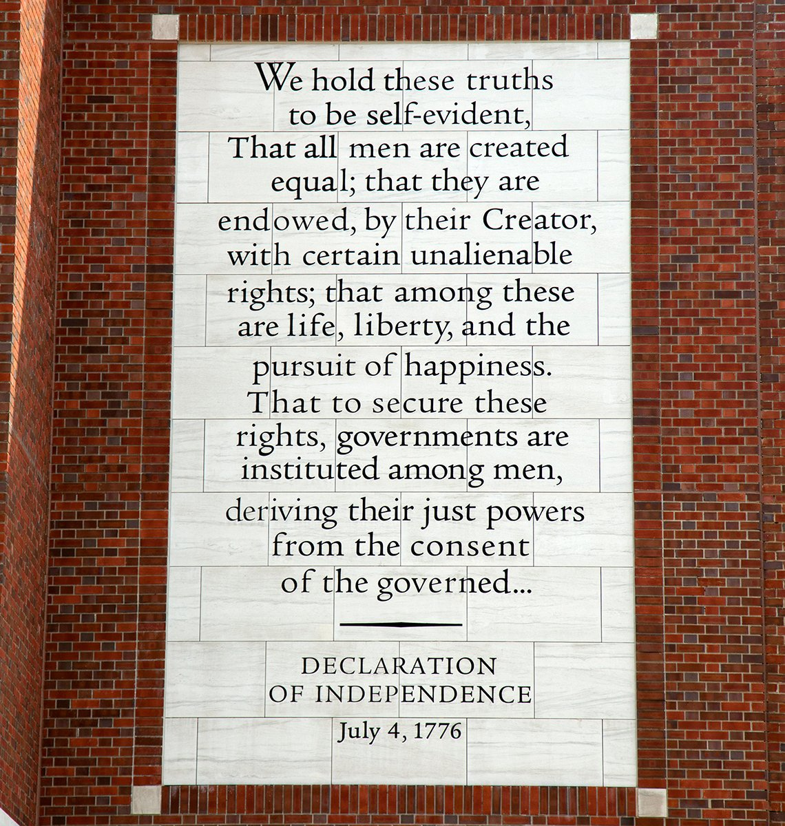 Passage from the declaration of independence
