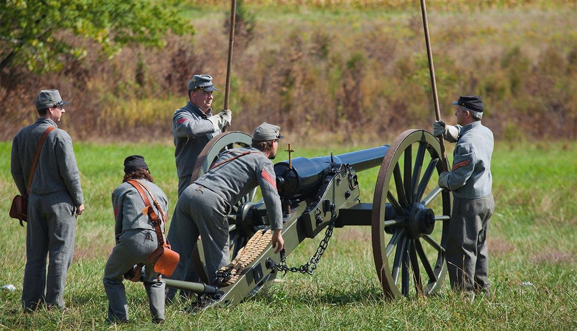 Recreación de la Guerra Civil en Gettysburg, Pensilvania