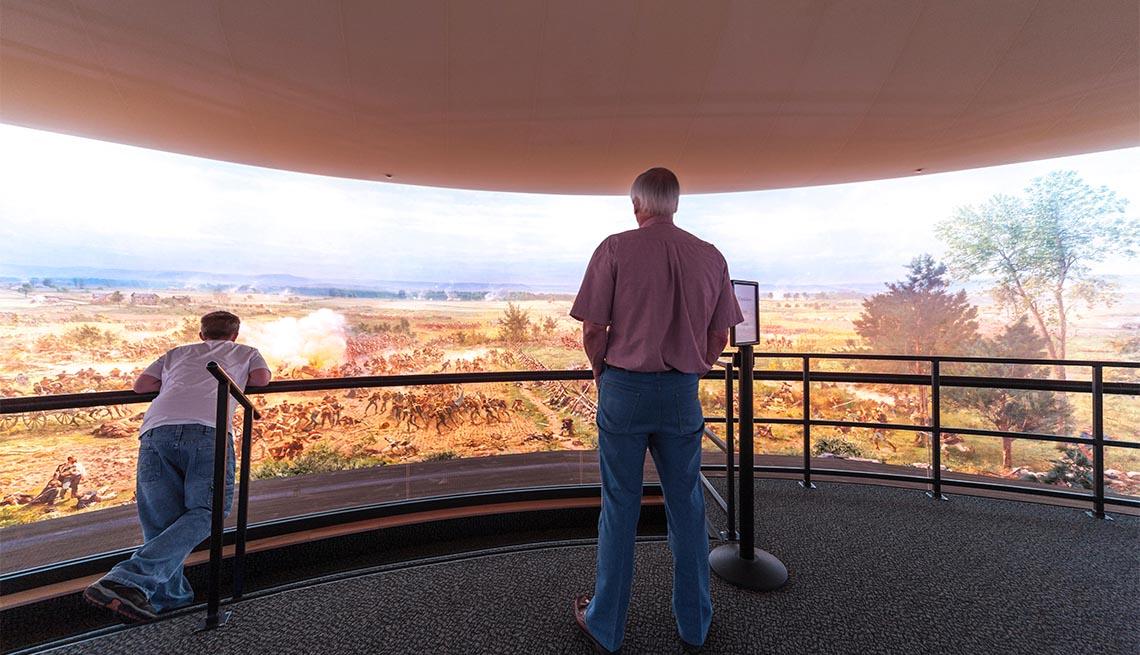 Ciclorama en el Museo y Centro de Visitantes del Parque Nacional Militar de Gettysburg