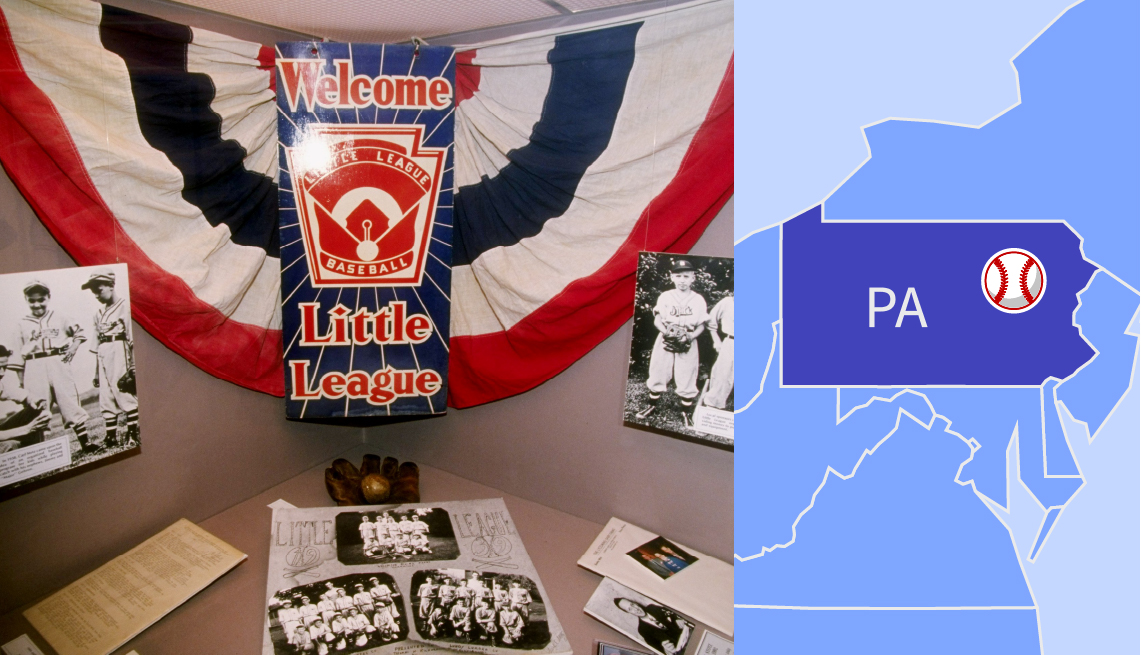 a display at the world of little league museum in  south williamsport pennsylvania