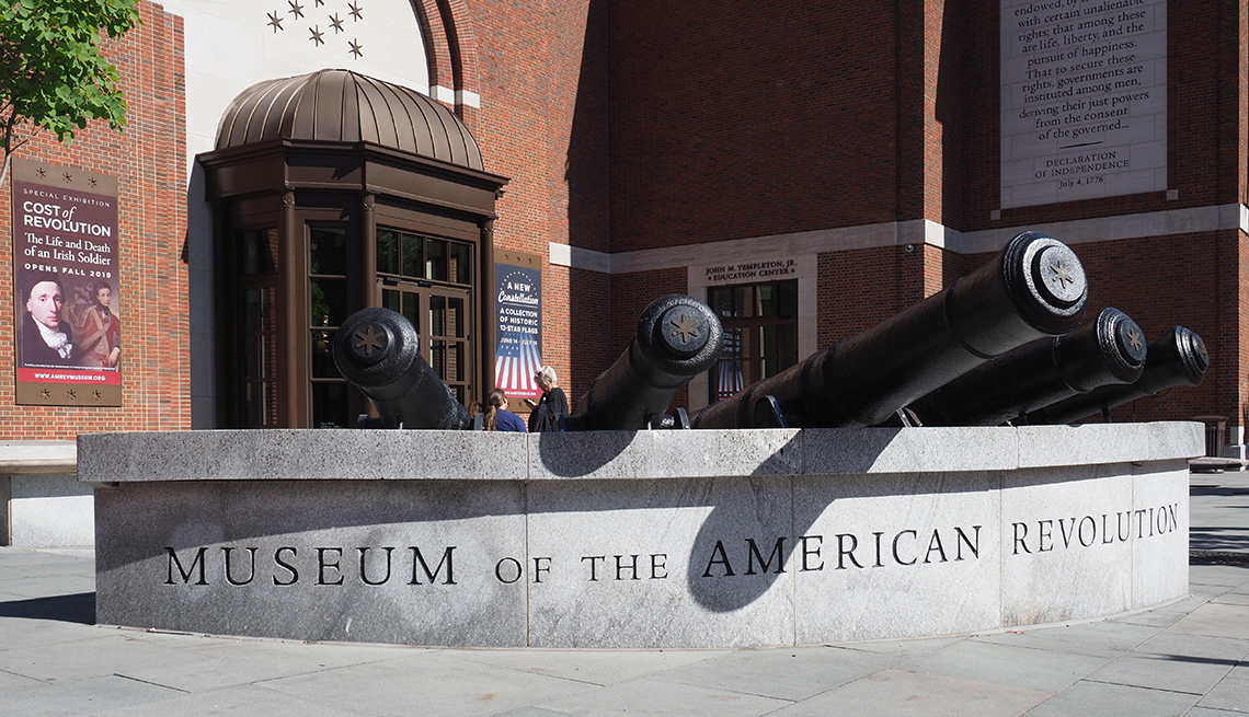 Outside of the Museum of the American Revolution