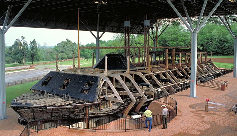 USS Cairo at Vicksburg National Military Park