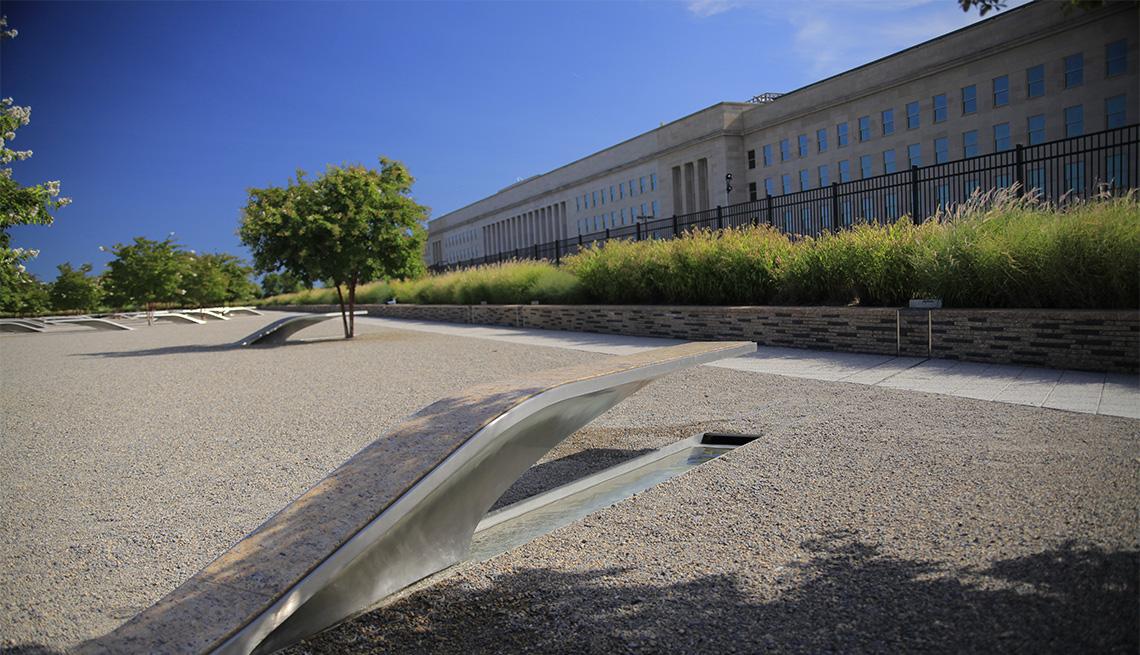 View of the Pentagon 911 Memorial, Washington DC