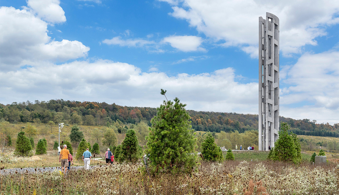 The Tower of Voices at the Flight 93 National Memorial