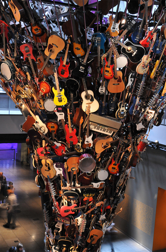 Museum of Pop Culture guitar exhibit