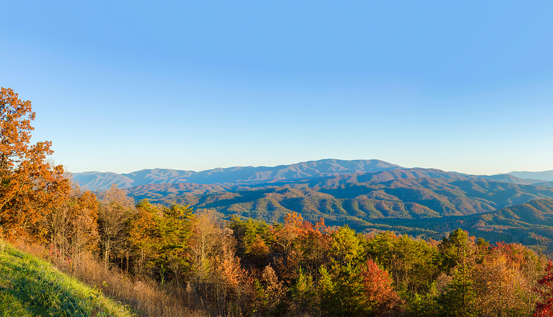 item 4 of Gallery image - view over the Great Smoky Mountains National Park just before sunset