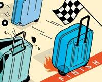 Aniversario 40 de equipaje de la maleta de ruedas