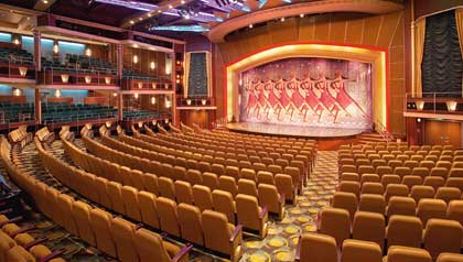 Luxurious, intimate theater on the ship Mariner of the Seas