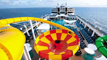 The megaship, Norwegian Epic, features it's own water park