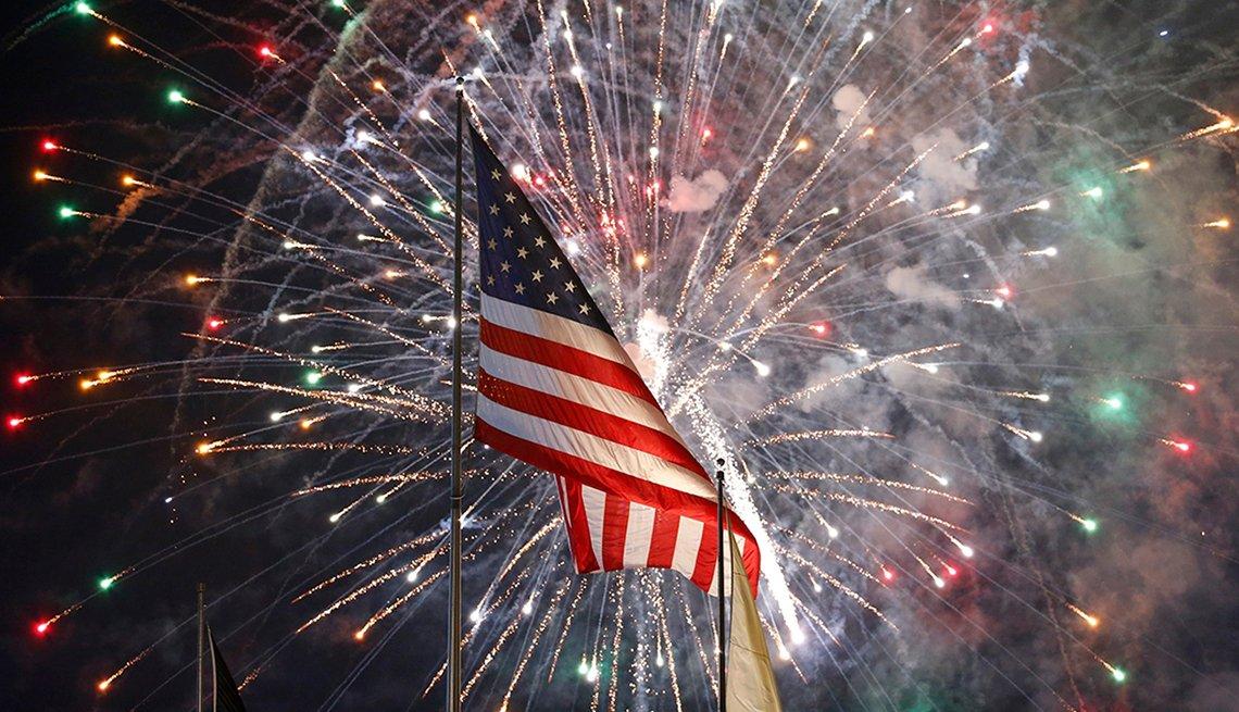 Ciudades donde festejar el 4 de Julio - Bandera de EE.UU.