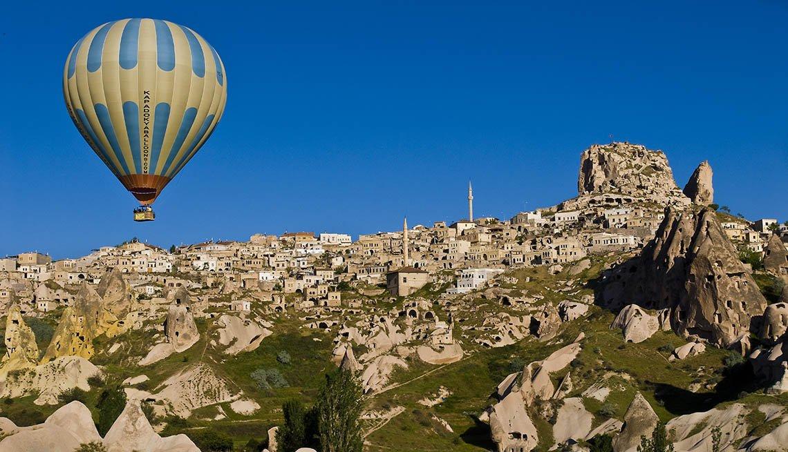 Hot Air Balloon Over Cappadocia Turkey, Unique World Travel
