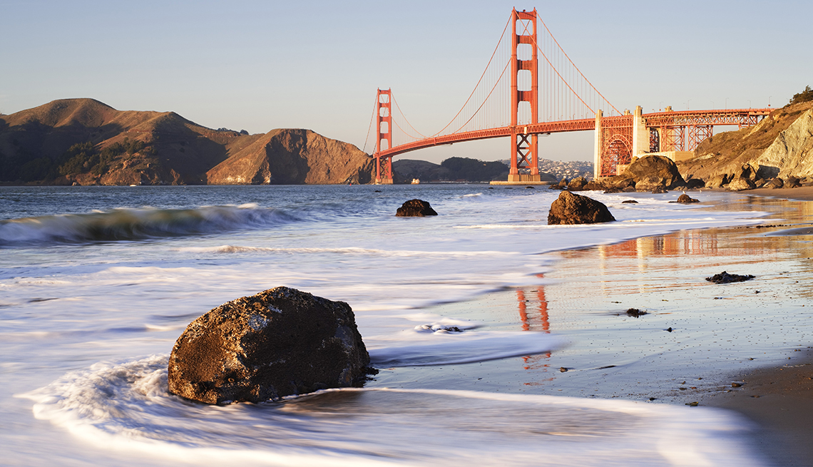 Golden Gate Bridge, Beach, Rocks, Free and Inexpensive Attractions in America