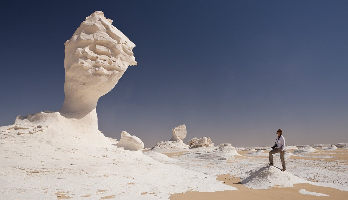 Huge Dune Sculpture In The White Desert In Libya Egypt, Unique World Travel