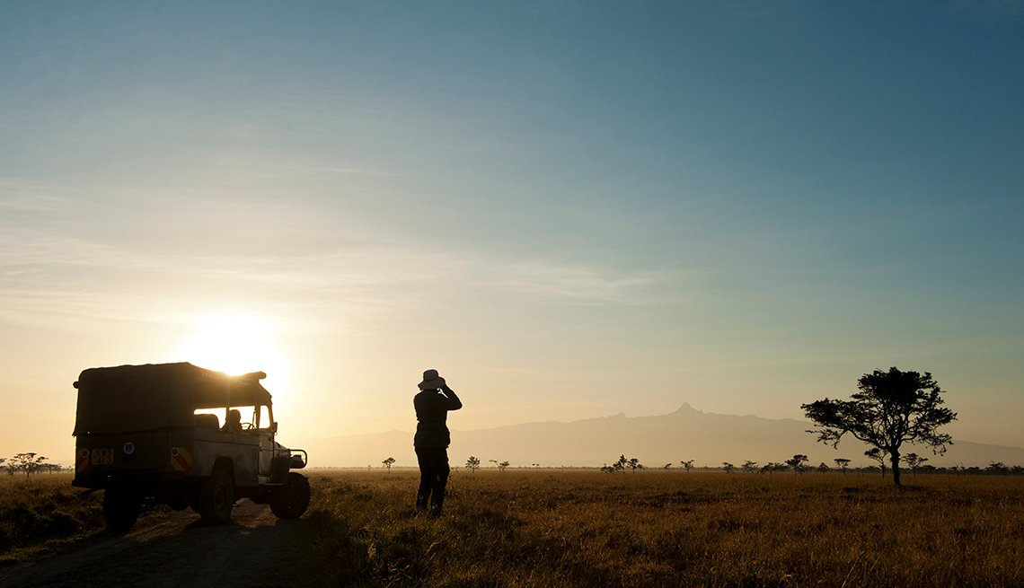 Silhouette Woman Safari, Dawn in Africa, Great All-Inclusive Vacations