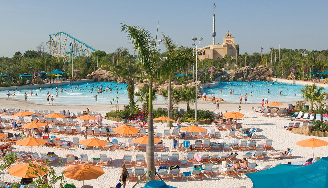 Beach Chairs, Sand, Aquatica, Orlando, Best Water Parks in America