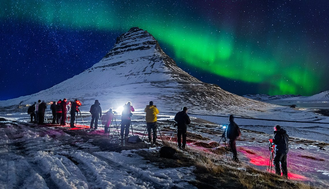 Aurora Borealis, Iceland Mountain Night, Photography Expedition, Great All-Inclusive Vacations