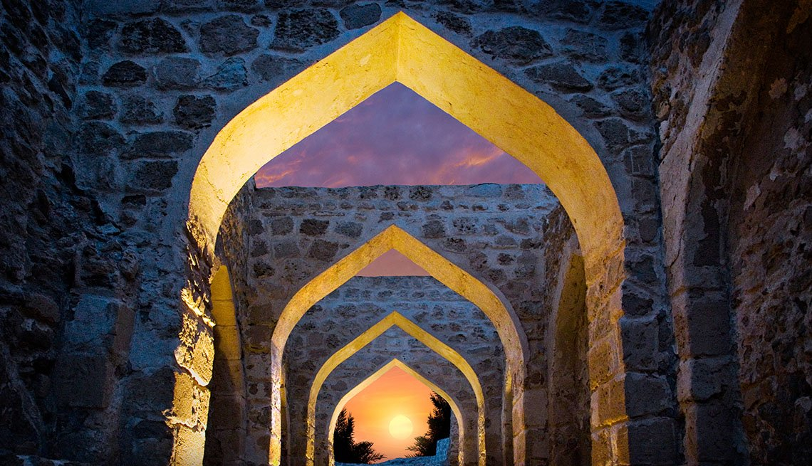 The Repeating Arches At Bahrain Fort In Bahrain, World's Best Castles