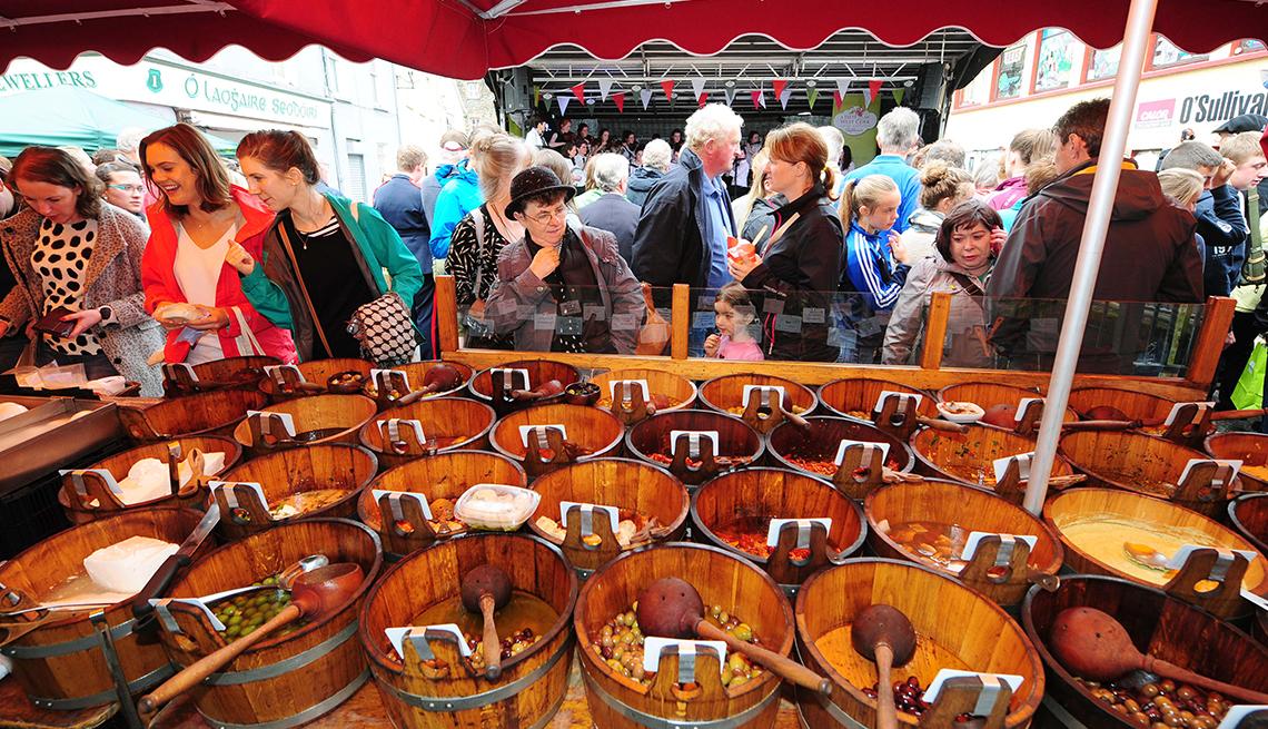 Crowds Barrels Olive Market, Taste of West Cork Food Festival, A Taste of Ireland