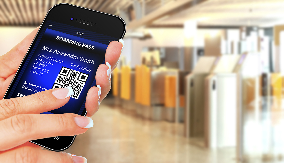 Mobile Boarding Pass, Check-in Gate,  Airport Navigation Tips